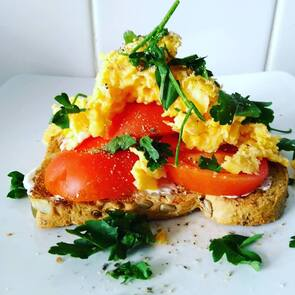 posh scrambled eggs